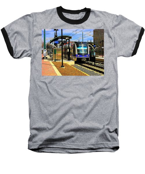 Baseball T-Shirt featuring the photograph Blue Line by Rodney Lee Williams