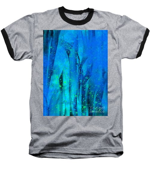 Baseball T-Shirt featuring the painting Feeling Blue by Yul Olaivar