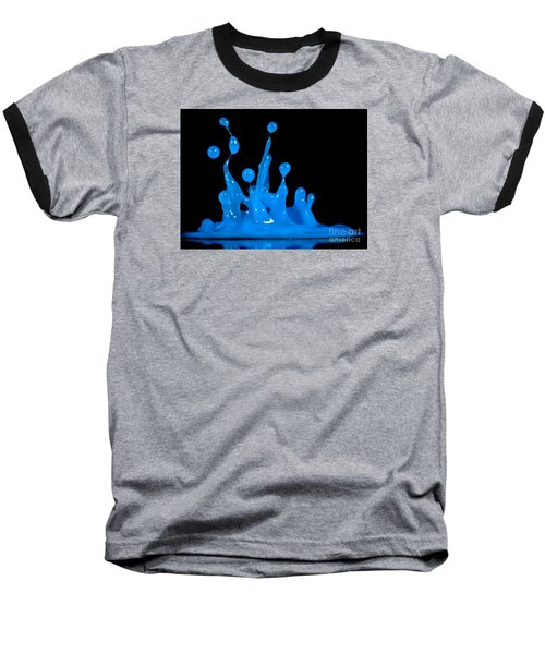 Blue Man Group Baseball T-Shirt by Anthony Sacco