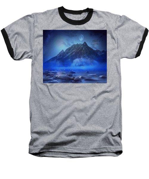 Blue Mist Rising Baseball T-Shirt