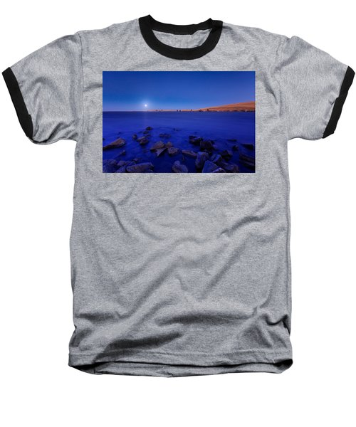 Blue Moon On The Rocks Baseball T-Shirt
