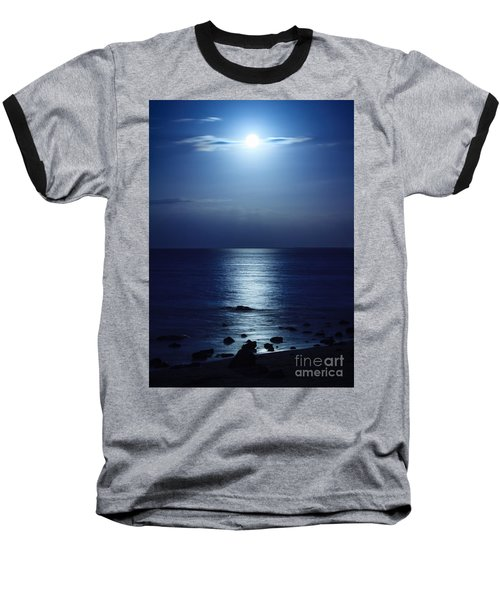 Blue Moon Rising Baseball T-Shirt