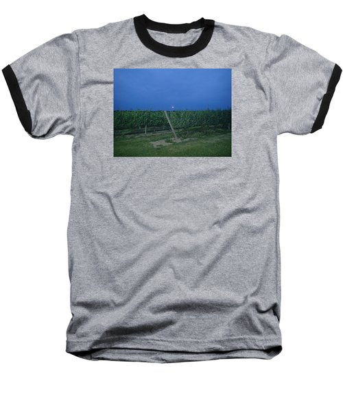Baseball T-Shirt featuring the photograph Blue Moon by Robert Nickologianis