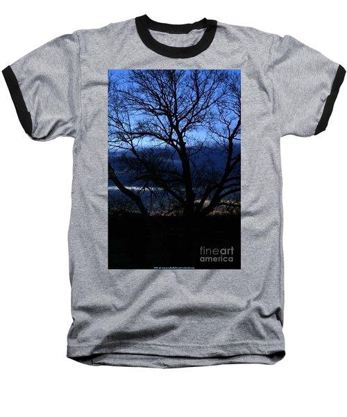 Blue Moon Sunrise Baseball T-Shirt by PainterArtist FIN