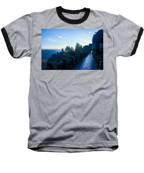 Blue Morning On The Bastei Baseball T-Shirt