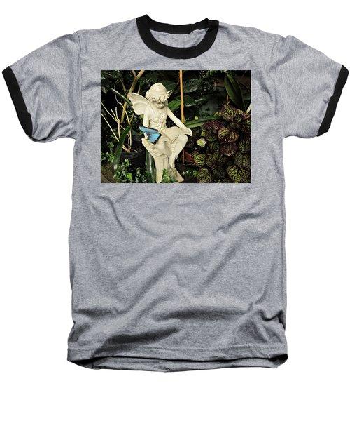 Blue Morpho On Statue Baseball T-Shirt