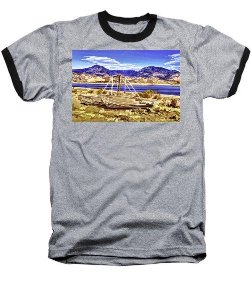 Baseball T-Shirt featuring the painting Blue by Muhie Kanawati