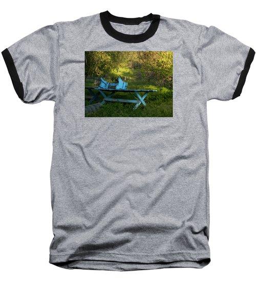 Blue On Blue Baseball T-Shirt
