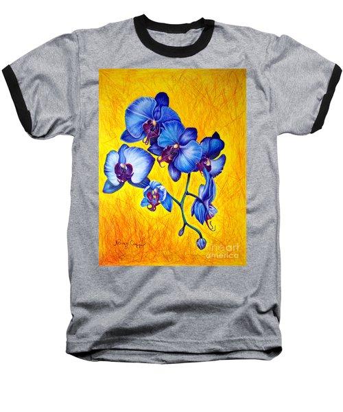 Blue Orchids 1 Baseball T-Shirt