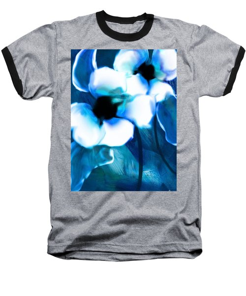 Baseball T-Shirt featuring the digital art Blue Orchids  by Frank Bright