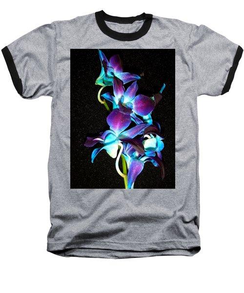 Blue Orchids Baseball T-Shirt