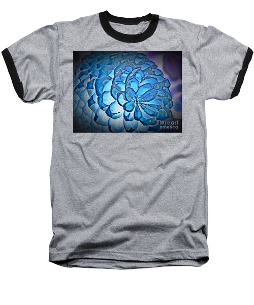 Blue Pine Cone 2 Baseball T-Shirt by Chalet Roome-Rigdon