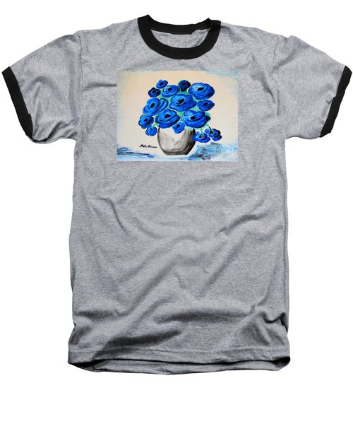 Blue Poppies Baseball T-Shirt