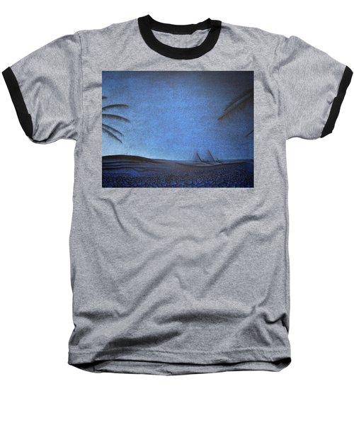 Baseball T-Shirt featuring the drawing Blue Pyramid by Mayhem Mediums