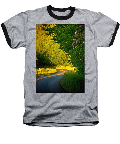 Blue Ridge Afternoon Baseball T-Shirt by John Haldane
