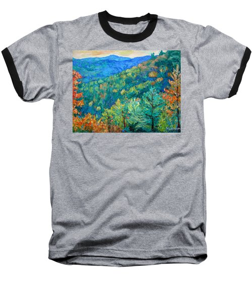 Blue Ridge Autumn Baseball T-Shirt by Kendall Kessler