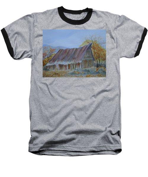 Blue Ridge Barn Baseball T-Shirt by Joel Deutsch