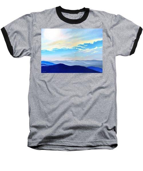 Blue Ridge Blue Above Baseball T-Shirt