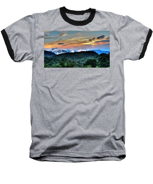 Blue Ridge Mountain Sunrise  Baseball T-Shirt