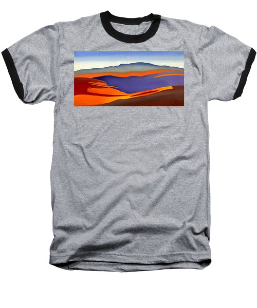 Blue Ridge Mountains East Fall Art Abstract Baseball T-Shirt by Catherine Twomey