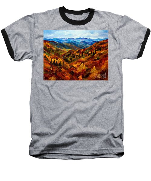 Blue Ridge Mountains In Fall II Baseball T-Shirt by Julie Brugh Riffey