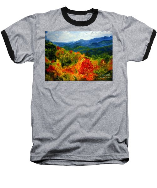 Blue Ridge Mountains In Fall Baseball T-Shirt by Julie Brugh Riffey