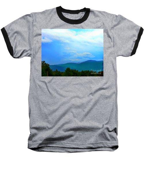 Baseball T-Shirt featuring the photograph Blue Ridge Mountains by Judy Palkimas