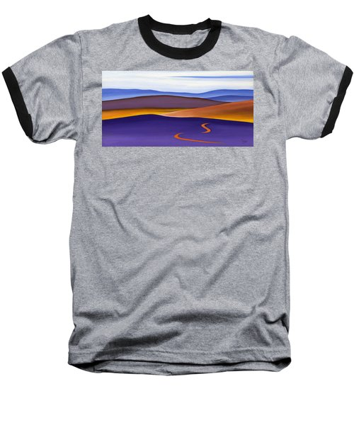 Blue Ridge Orange Mountains Sky And Road In Fall Baseball T-Shirt by Catherine Twomey