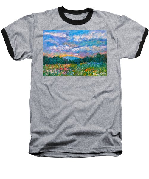 Blue Ridge Wildflowers Baseball T-Shirt by Kendall Kessler