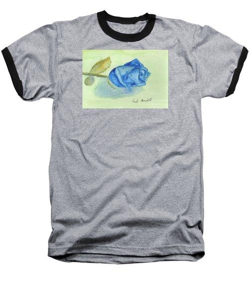 Blue Rose Baseball T-Shirt by Pamela  Meredith
