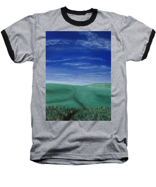 Blue Skies Ahead Baseball T-Shirt