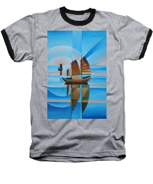 Blue Skies And Cerulean Seas Baseball T-Shirt