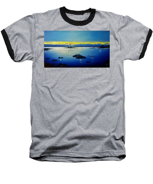 Blue Skies Baseball T-Shirt by Kelly Turner
