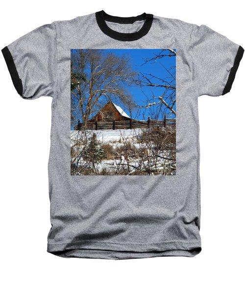 Blue Sky Baseball T-Shirt by Loni Collins