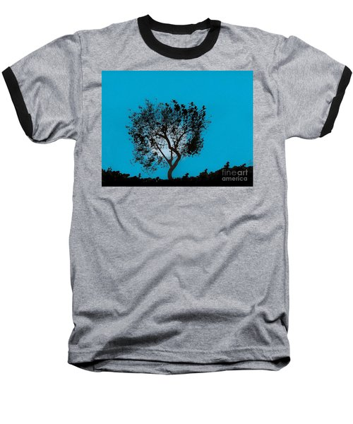 Baseball T-Shirt featuring the drawing Blue Sky Moon by D Hackett