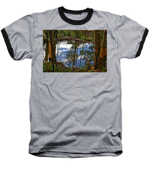 Baseball T-Shirt featuring the photograph Blue Sky Reflecting by Jeremy Rhoades