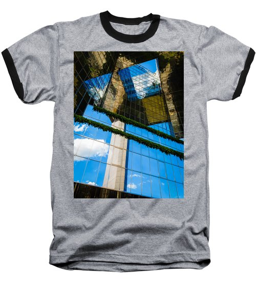 Baseball T-Shirt featuring the photograph Blue Sky Reflections On A London Skyscraper by Peta Thames