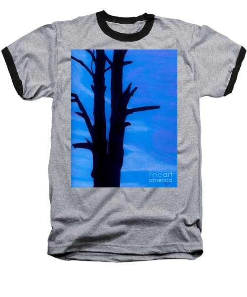 Baseball T-Shirt featuring the drawing Blue Sky Tree by D Hackett