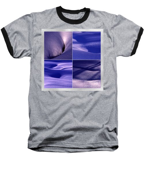 Baseball T-Shirt featuring the photograph Blue Snow by Randi Grace Nilsberg