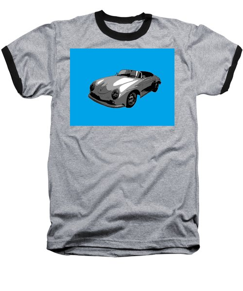 Baseball T-Shirt featuring the photograph Blue Speedster by J Anthony