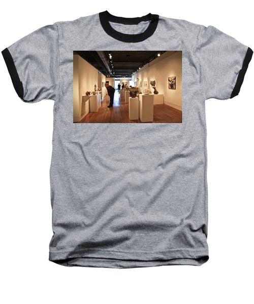 Blue Spiral Gallery In Asheville Baseball T-Shirt by Melinda Fawver