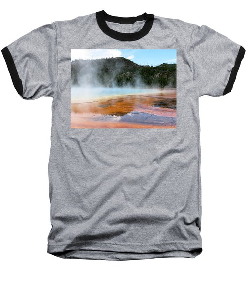 Baseball T-Shirt featuring the photograph Blue Steam by Laurel Powell