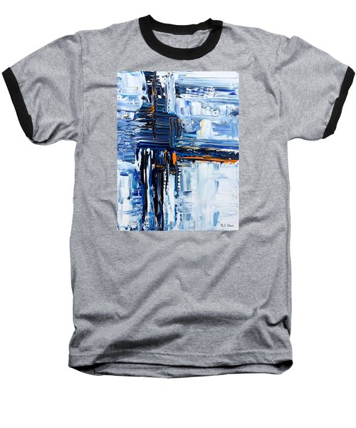 Blue Thunder Baseball T-Shirt by Rebecca Davis