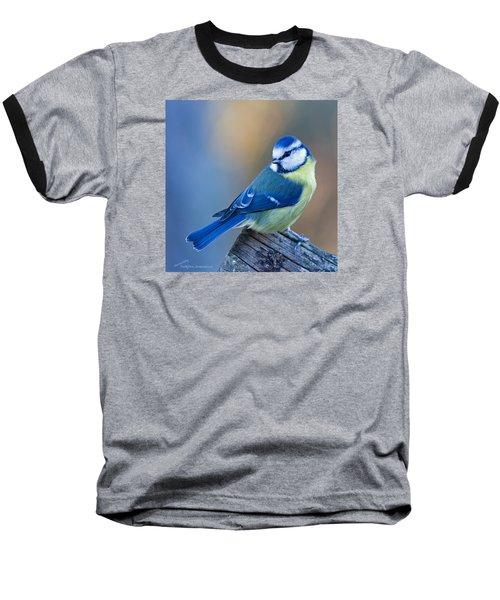 Blue Tit Looking Behind Baseball T-Shirt