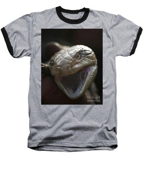 Blue Tongue Lizard Baseball T-Shirt