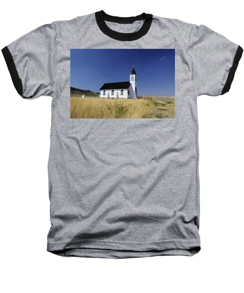 Baseball T-Shirt featuring the photograph Blue Trim Church by Fran Riley