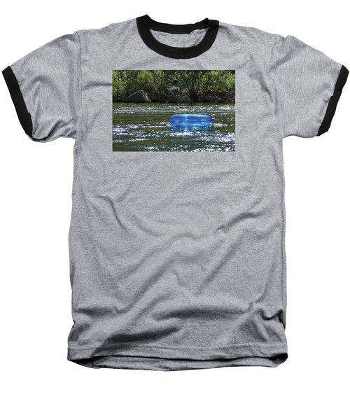 Blue Floaty - Inner Tube On The River Baseball T-Shirt by Jane Eleanor Nicholas