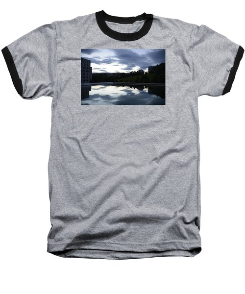 Baseball T-Shirt featuring the photograph Blue Visions 1 by Teo SITCHET-KANDA