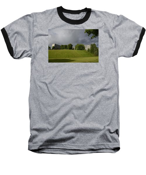 Baseball T-Shirt featuring the photograph Blue Visions 3 by Teo SITCHET-KANDA