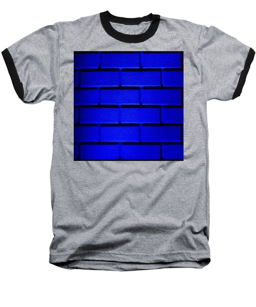 Blue Wall Baseball T-Shirt by Semmick Photo
